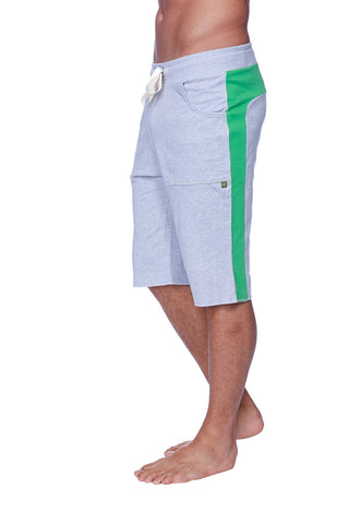 Eco-Track Short (Heather Grey w/Green) Mens Shorts 4-rth