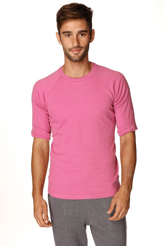 Hybrid Crew Neck Raglan Tee (Berry) Mens Tops 4-rth