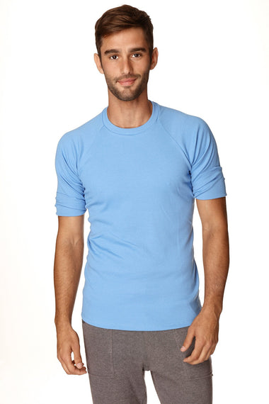 Hybrid Crew Neck Raglan Tee (Ice Blue) Mens Tops 4-rth