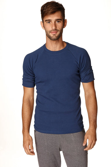 Hybrid CREW Neck Raglan Tee (Royal Blue) Mens Tops 4-rth