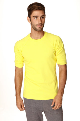 Hybrid Crew Neck Raglan Tee (Yellow) Mens Tops 4-rth