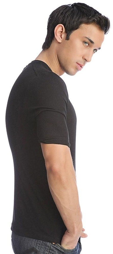 Hybrid V-Neck (Black) Mens Tops 4-rth