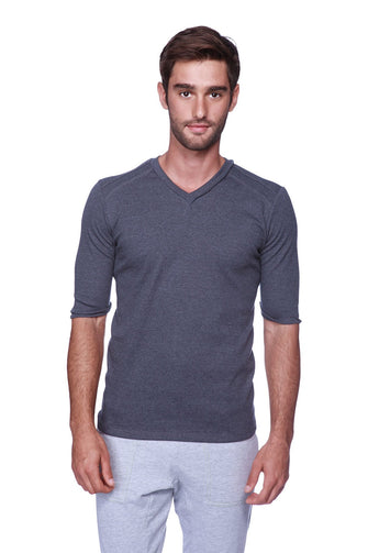 Hybrid V-Neck (Charcoal) Mens Tops 4-rth