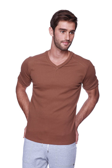 Hybrid V-Neck (Chocolate) Mens Tops 4-rth