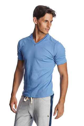 Hybrid V-Neck (Ice Blue) Mens Tops 4-rth