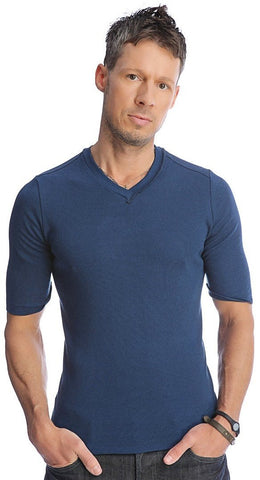Hybrid V-Neck (Royal) Mens Tops 4-rth