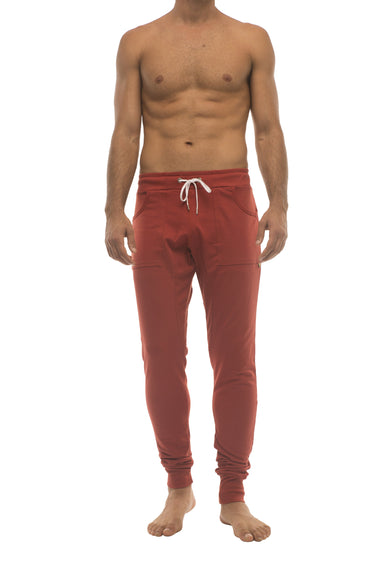 Long Cuffed Jogger Yoga Pants (Cinnabar) Long Joggers 4-rth