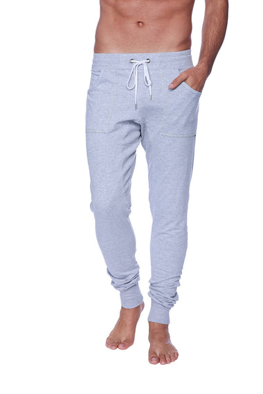 Long Cuffed Jogger Yoga Pants (Heather Grey) Long Joggers 4-rth