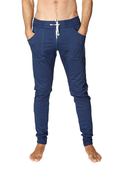 Long Cuffed Jogger Yoga Pants (Royal Blue) Long Joggers 4-rth