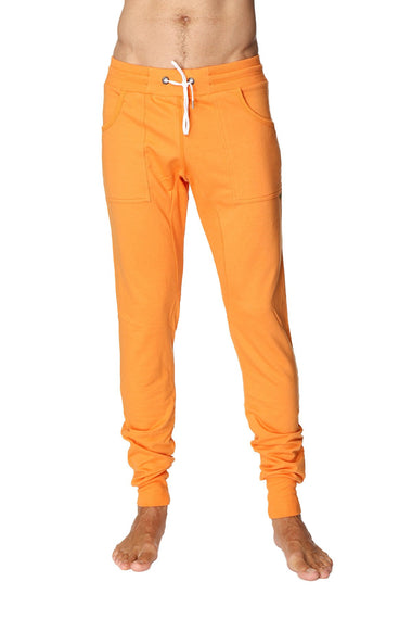 Long Cuffed Jogger Yoga Pants (Sun Orange) Long Joggers 4-rth