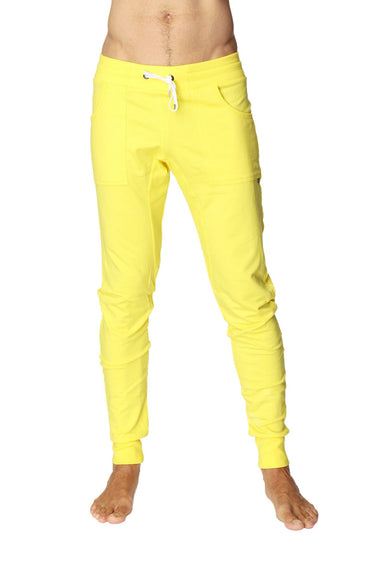 Long Cuffed Jogger Yoga Pants (Tropic Yellow) Long Joggers 4-rth