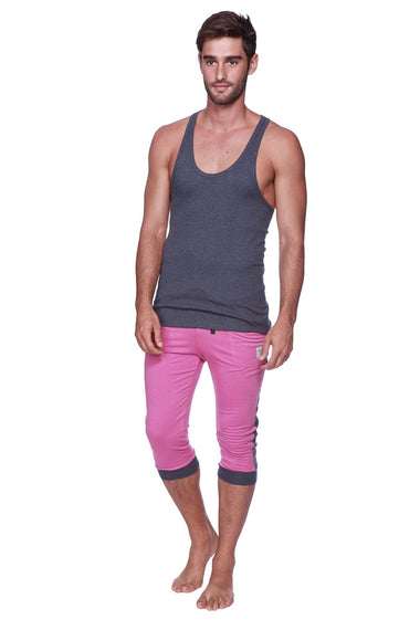 Mens Cuffed Yoga Pants (Berry w/Charcoal) Cuffed Pants 4-rth