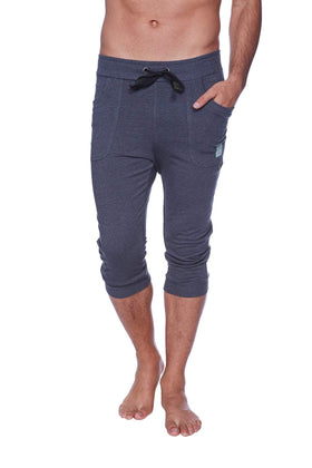 Mens Cuffed Yoga Pants (Solid Charcoal) Cuffed Pants 4-rth