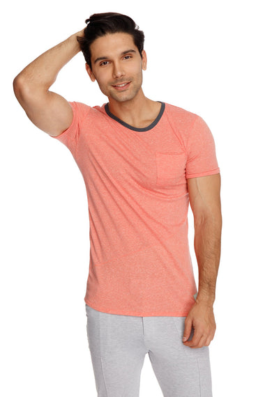 Perfect Pocket Crew-Neck Tee (Apricot Slub) Mens Tops 4-rth