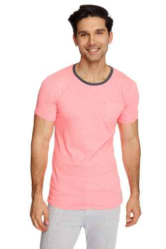 Perfect Pocket Crew-Neck Tee (Coral Slub) Mens Tops 4-rth