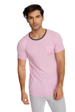 Perfect Pocket Crew-Neck Tee (Iris Slub) Mens Tops 4-rth