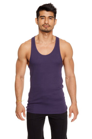 Racer-back Yoga Tank (Eggplant Purple) Mens Tanks 4-rth