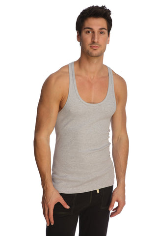 Racer-back Yoga Tank (Heather Grey) Mens Tanks 4-rth