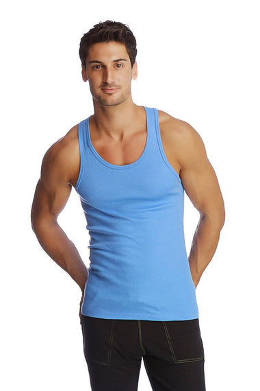 Racer-back Yoga Tank (Ice Blue) Mens Tanks 4-rth