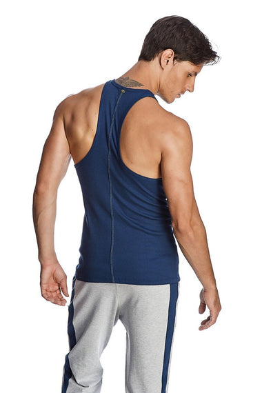 Racer-back Yoga Tank (Royal Blue) Mens Tanks 4-rth