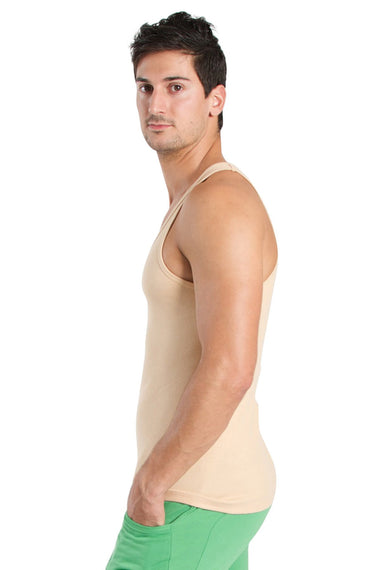 Racer-back Yoga Tank (Sand Beige) Mens Tanks 4-rth