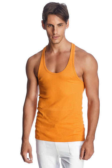 Racer-back Yoga Tank (Sun Orange) Mens Tanks 4-rth