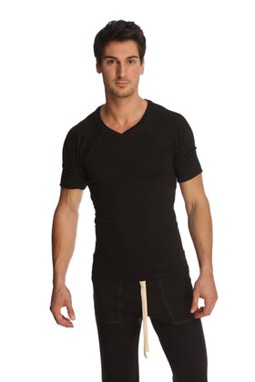 Raglan Virtual Crew Neck (Black) Mens Tops 4-rth