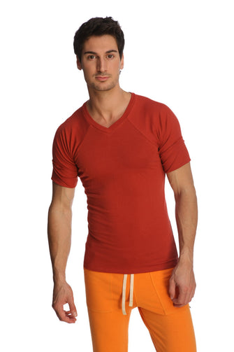 Raglan Virtual Crew Neck (Cinnabar) Mens Tops 4-rth