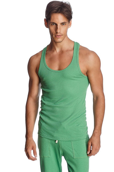 Sustain Tank Top (Bamboo Green) Mens Tanks 4-rth