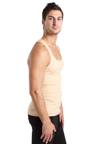 Sustain Tank Top (Sand Beige) Mens Tanks 4-rth