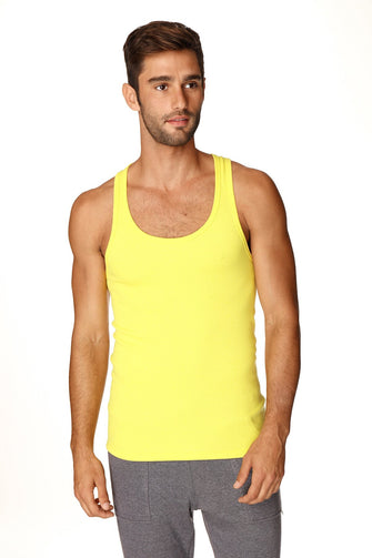Sustain Tank Top (Tropic Yellow) Mens Tanks 4-rth