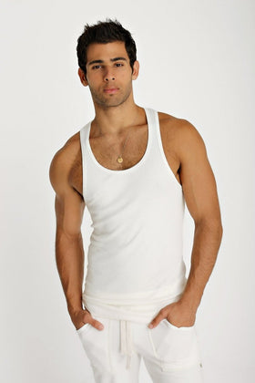Sustain Tank Top (White) Mens Tanks 4-rth