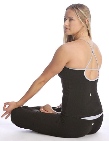 Sustain Yoga Halter (Black) Womens Halter Tops 4-rth