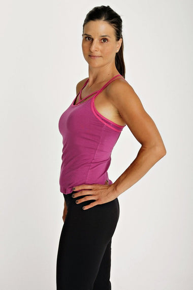 Sustain Yoga Halter (Plum) Womens Halter Tops 4-rth