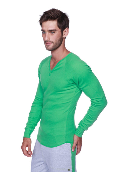 Thermal V-Neck Long Sleeve (Bamboo Green) Mens Thermals 4-rth