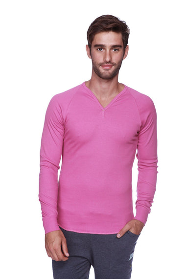 Thermal V-Neck Long Sleeve (Berry) Mens Thermals 4-rth