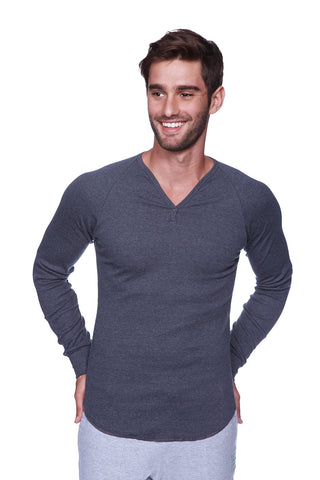 Thermal V-Neck Long Sleeve (Charcoal) Mens Thermals 4-rth