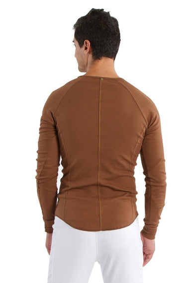 Thermal V-Neck Long Sleeve - Chocolate Mens Thermals 4-rth