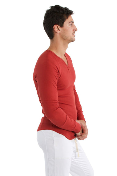 Thermal V-Neck Long Sleeve (Cinnabar) Mens Thermals 4-rth