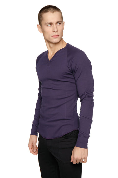 Thermal V-Neck Long Sleeve (Eggplant) Mens Thermals 4-rth