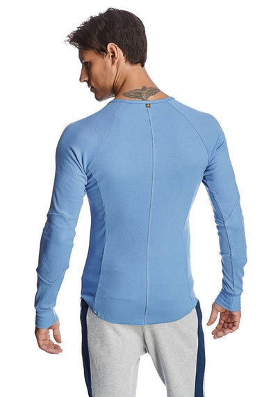Thermal V-Neck Long Sleeve (Ice Blue) Mens Thermals 4-rth