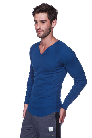 Thermal V-Neck Long Sleeve (Royal Blue) Mens Thermals 4-rth