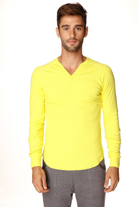 Thermal V-Neck Long Sleeve (Tropic Yellow) Mens Thermals 4-rth