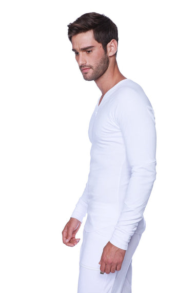 Thermal V-Neck Long Sleeve (White) Mens Thermals 4-rth