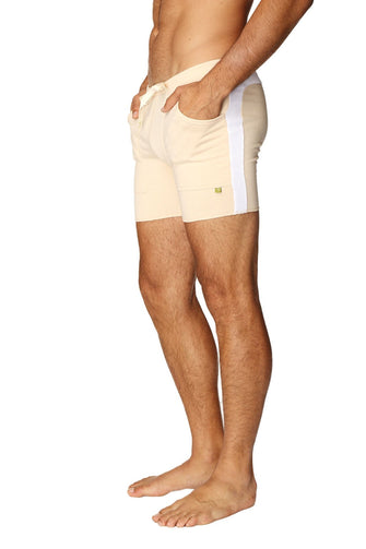 Transition Yoga Short (Sand w/White) Short Shorts 4-rth