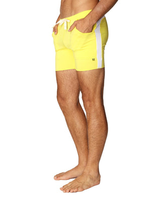 Transition Yoga Short (Yellow w/White) Short Shorts 4-rth