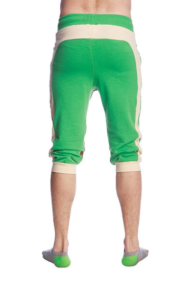 Tri-Color Edge Cuffed Yoga Pants (Bamboo Green w/Sand & Chocolate) Edge Pants 4-rth