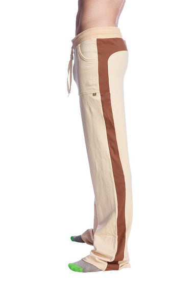 Tri-Color Stretch Eco-Track Pant (Sand w/Chocolate & Black) Mens Pants 4-rth