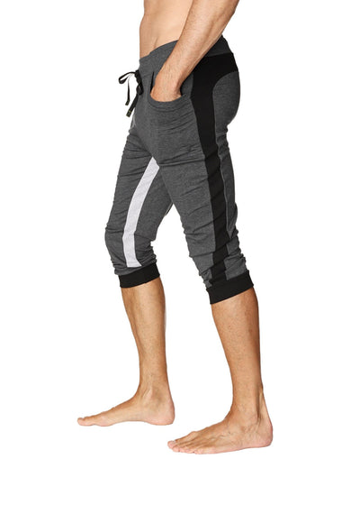 Ultra-Flex Tri-color Cuffed Yoga Pant (Charcoal w/Black & Grey) Cuffed Pants 4-rth