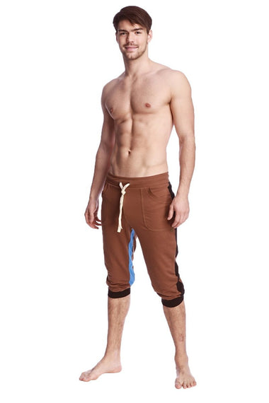 Ultra-Flex Tri-color Cuffed Yoga Pant (Chocolate w/Black & Ice) Cuffed Pants 4-rth